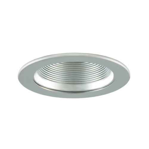 "JESCO Lighting TM401CHCH 4"" Low Voltage Adjustable Step Baffle Trim, Chrome Reflector, Chrome Trim"