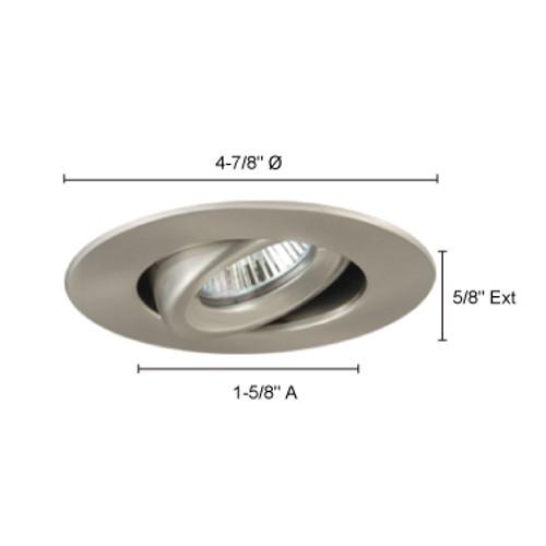 "JESCO Lighting TM408AB 4"" Low Voltage Adjustable Gimbal Ring Trim, Antique Bronze"