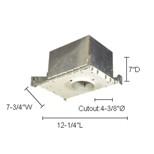 """JESCO Lighting LV4000ICA 4"""" Low Voltage Airtight IC Housing For New Construction"""