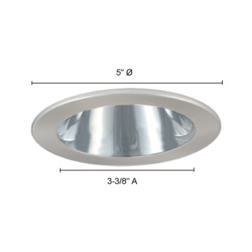 JESCO Lighting TM202CHBK 4-INCH Chrome Reflector, Black Trim