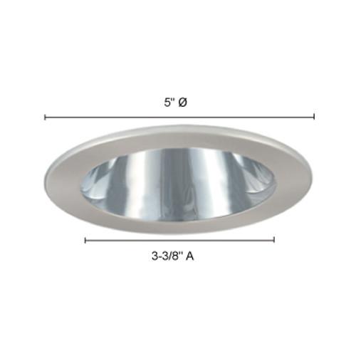 JESCO Lighting TM202CHWH 4-INCH Chrome Reflector, White Trim