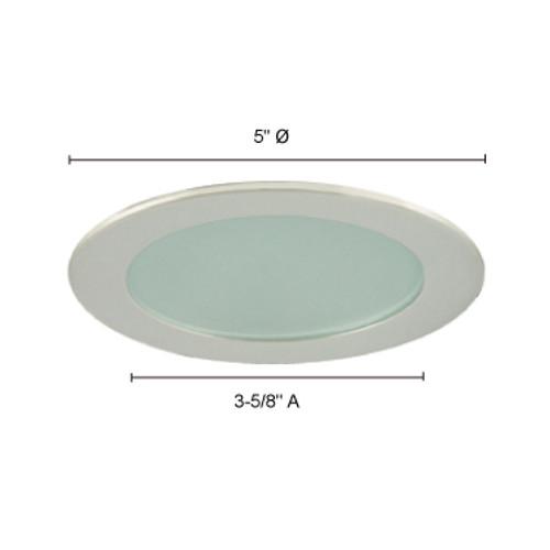 JESCO Lighting TM209CH 4-INCH Flat Shower Trim w. Frosted Glass, Chrome