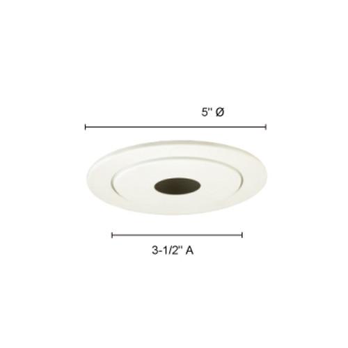 JESCO Lighting TM214WH 4-INCH 2-Piece Pinhole Trim with White Baffle, White