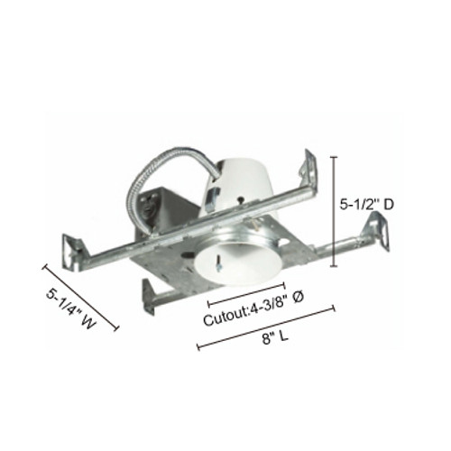 """JESCO Lighting RS2000B 4"""" Line Voltage Non IC Universal Housing For New Construction"""