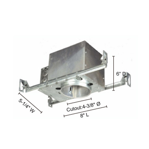 """JESCO Lighting RS2000ICA 4"""" Line Voltage Airtight IC Housing For New Construction"""