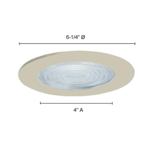 "JESCO Lighting TM5507WH 5"" Line Voltage Shower Trim with Fresnel Lens, White"