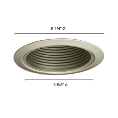 "JESCO Lighting TM5509WHWH 5"" Line Voltage Metal Step Baffle Trim, White Baffle, White Trim"
