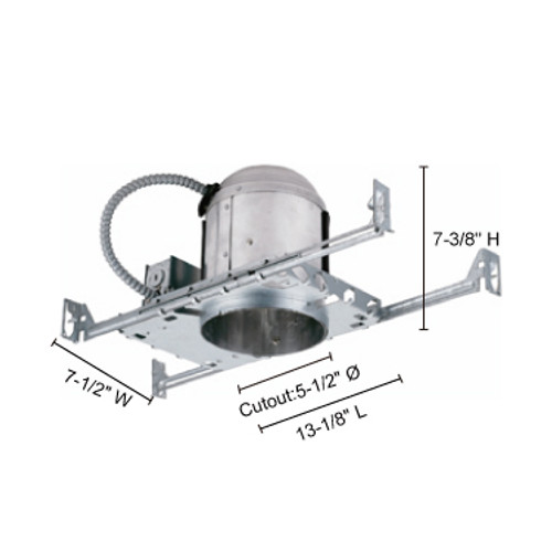 """JESCO Lighting RS5500BICA 5"""" Line Voltage IC Airtight Housing for New Construction"""