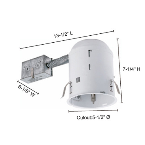 """JESCO Lighting RS5500R 5"""" Line Voltage Non-IC Housing for Remodeling"""
