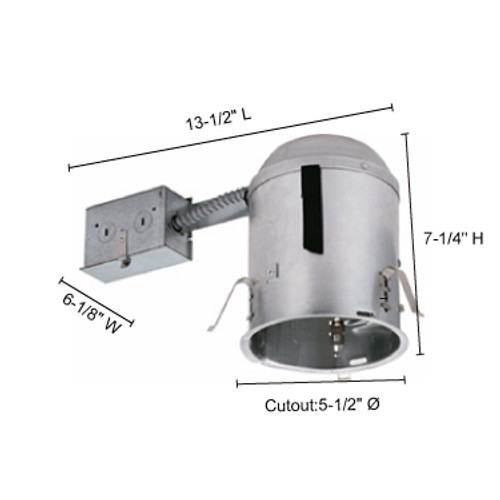 """JESCO Lighting RS5500RICA 5"""" Line Voltage IC Airtight Housing for Remodeling"""