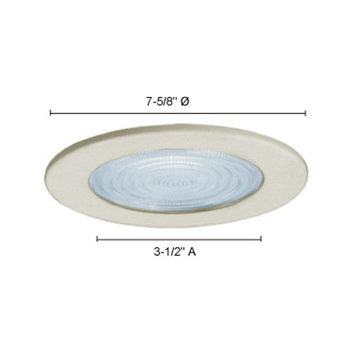 "JESCO Lighting TM607WH 6"" Line Voltage Shower Trim with Fresnel Lens, White"