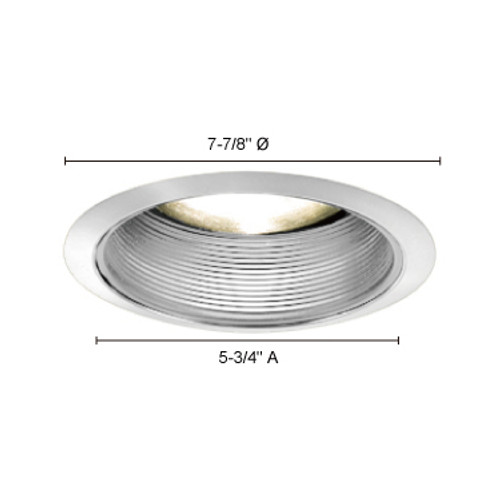 "JESCO Lighting TM608WHWH 6"" Line Voltage Step Baffle Trim, White"
