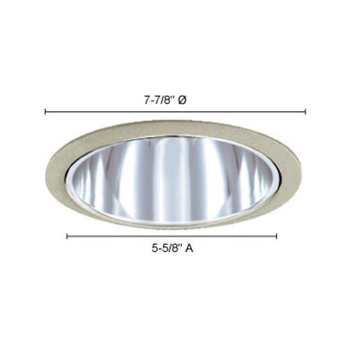 "JESCO Lighting TM610CHST 6"" Line Voltage Specular Reflector, Chrome"