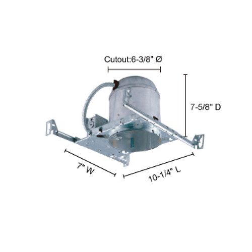 """JESCO Lighting RS6000BIC 6"""" Line Voltage IC Housing for new construction"""