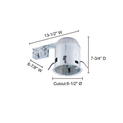 """JESCO Lighting RS6000RICA 6"""" Line Voltage IC Airtight Housing for Remodelling"""