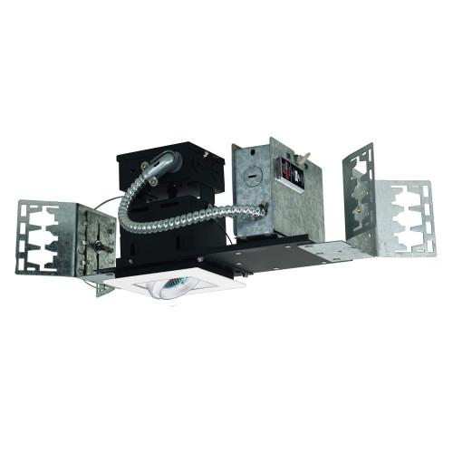 JESCO Lighting MMG1650-1EAW 1-Light Linear New Construction (Low Voltage) , White Trim, White Gimbal, White Interior