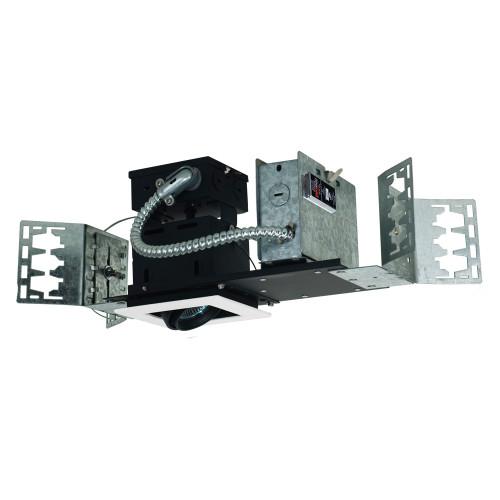 JESCO Lighting MMG1650-1EWB 1-Light Linear New Construction (Low Voltage), White Trim, Black Gimbal, Black Interior