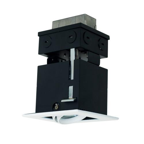 JESCO Lighting MMGR1650-1EAW 1-Light Linear Remodel (Low Voltage), White Trim, White Gimbal, White Interior