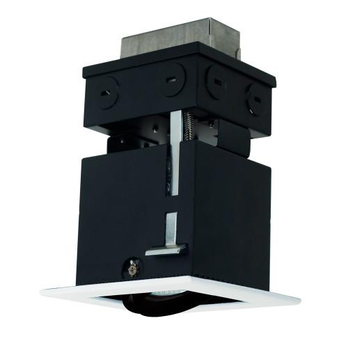 JESCO Lighting MMGR1650-1EWB 1-Light Linear Remodel (Low Voltage), White Trim, Black Gimbal, Black Interior