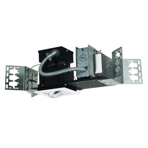 JESCO Lighting MMGMH1639-1EAW 1-Light Linear New Construction (Metal Halide), White Trim, White Gimbal, White Interior