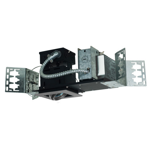 JESCO Lighting MMGMH1639-1ESS 1-Light Linear New Construction (Metal Halide), Silver Trim, Silver Gimbal, Black Interior