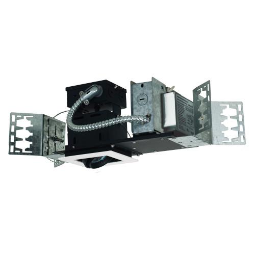 JESCO Lighting MMGMH1639-1EWB 1-Light Linear New Construction (Metal Halide), White Trim, Black Gimbal, Black Interior