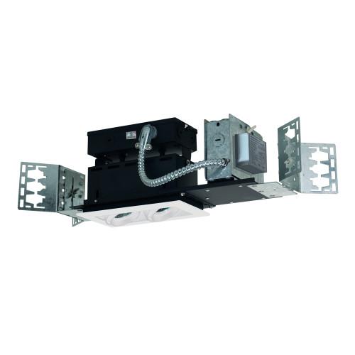 JESCO Lighting MMGMH1639-2EAW 2-Light Linear New Construction (Metal Halide), White Trim, White Gimbal, White Interior