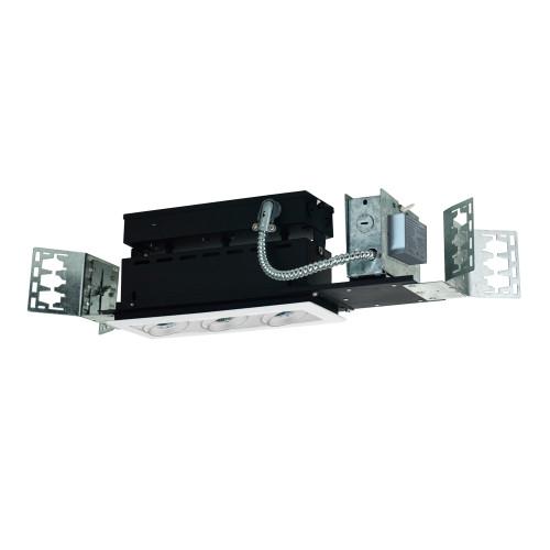 JESCO Lighting MMGMH1639-3EAW 3-Light Linear New Construction (Metal Halide), White Trim, White Gimbal, White Interior