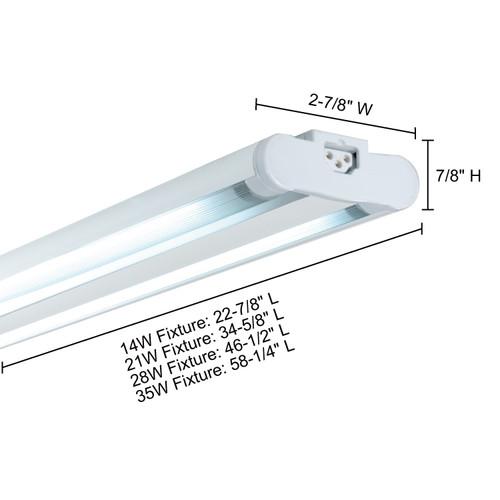 JESCO Lighting SG5AT-28/64-SV Sleek Plus Grounded 28w T5 Bi-Pin Linear Fluor, 6400K, Silver