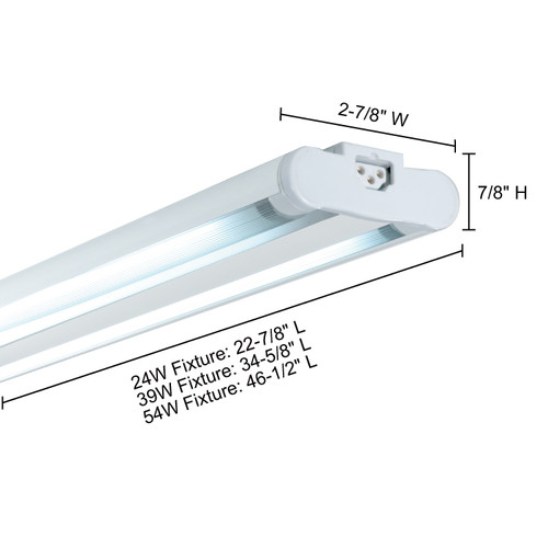 JESCO Lighting SG5ATHO-39/41-W Sleek Plus Grounded 39W T5 Bi-Pin Linear Fluorescent, 4100K, White