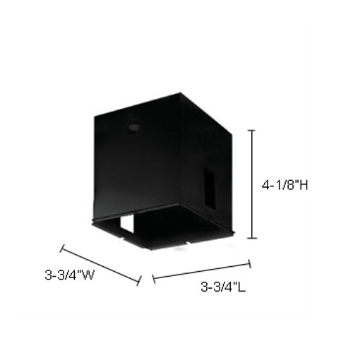 """JESCO Lighting RH29 Mini Recessed 1/4"""" Trim Ring , Black"""