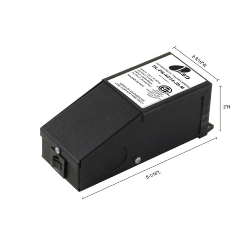 JESCO Lighting DL-PS-40/24-JB-M 40W Dimmable Indoor Magnetic Hardwire Power Supply., Black