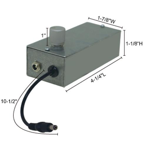 JESCO Lighting LC-DIM5A 60W @ 12V DC / 120W @ 24V DC Dimmer / Plug & Play - Built in 0-10V Dimming Control, Silver