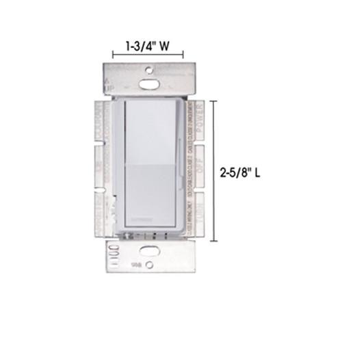 JESCO Lighting DS-DV-TV-WH Dimmer Wall Plate Switch (White Finish) - 0-10V Dimmer, White