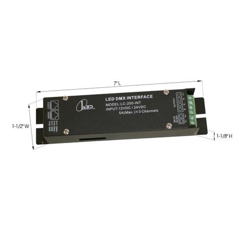 JESCO Lighting LC-200-INT 180W $ 12V DC / 240W @ 24V DC Accessory / DMX Interface - Assigns DMX address to Low Voltage LED fixtures., Black