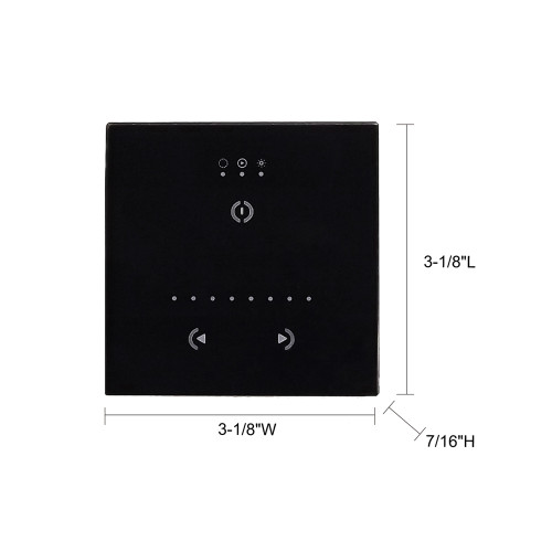 JESCO Lighting LC-PC-400 Controller / Simple DMX Controller. Must be programmed with computer software. Features touch screen Wall Plate.
