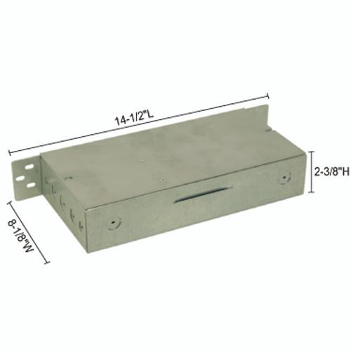 JESCO Lighting DL-PS-180/12-JB 3 ?ù 60W 12V DC Hardwire Power Supply in junction box enclosure., Silver
