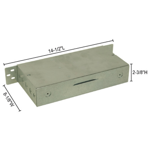 JESCO Lighting DL-PS-150/24-JB 150W 24V DC Hardwire Power Supply in junction box enclosure., Silver