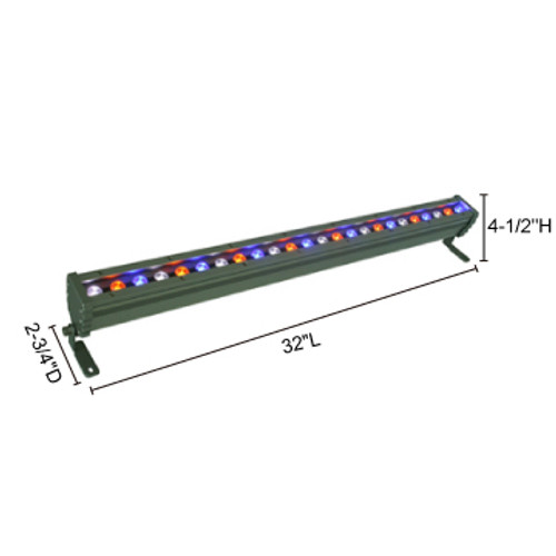 JESCO Lighting WWS3224PP30RGBZ 28W Max Plug & Play WWS Series Outdoor LED Wall Washer., Z - Bronze (Standard), RGRGB Color Changing