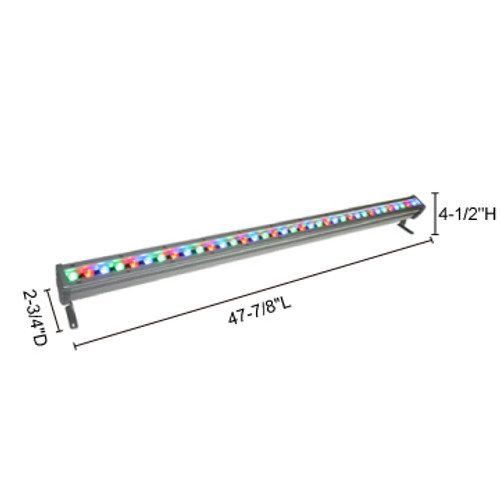 JESCO Lighting WWS4836PP30RGBZ 45W Max Plug & Play WWS Series Outdoor LED Wall Washer., Z - Bronze (Standard), RGRGB Color Changing