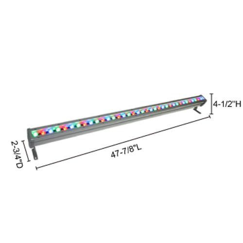JESCO Lighting WWS4836PP30W30Z 45W Max Plug & Play WWS Series Outdoor LED Wall Washer., Z - Bronze (Standard), 3000K