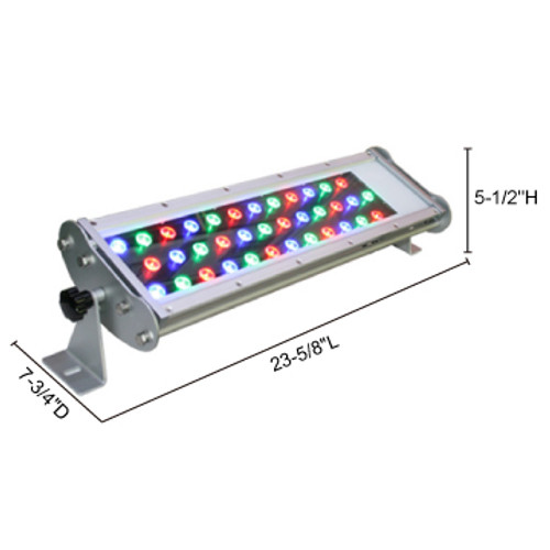 JESCO Lighting WWT2490HW30RGBZ 105W Max Hard Wire (Consult Factory) WWT Series Outdoor LED Wall Washer., Z - Bronze (Standard), RGRGB Color Changing