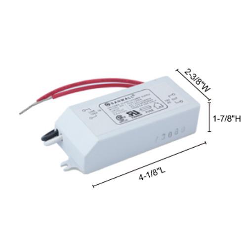 JESCO Lighting XF-60 60W-10W 12V AC Electronic Transformer, White