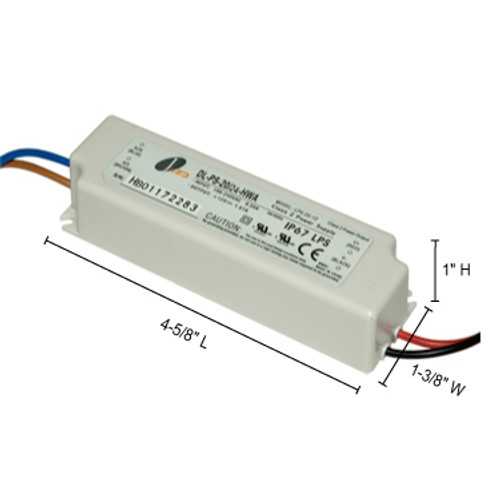 JESCO Lighting DL-PS-20/12-HWA 20W 12V DC Hardwire Power Supply., White