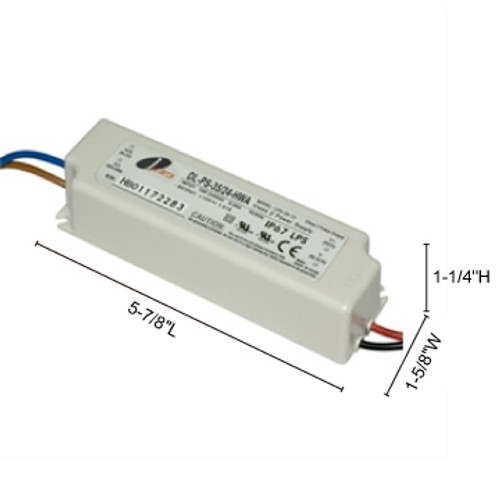 JESCO Lighting DL-PS-35/24-HWA 35W 24V DC Hardwire Power Supply., White