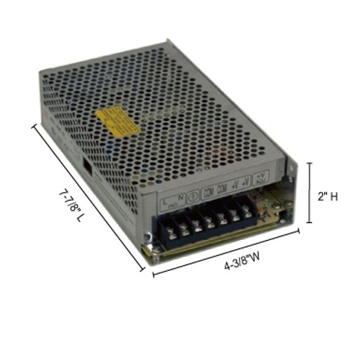 JESCO Lighting DL-PS-150/24-TB 150W Hardwire Power Supply with Terminal Block Connection, Silver