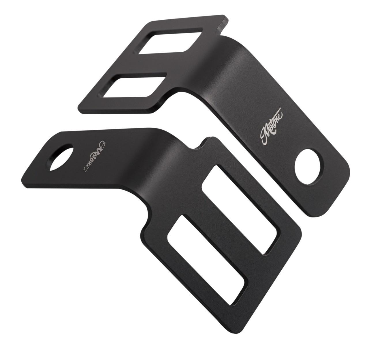 Under Seat Turn Signal Brackets - Black