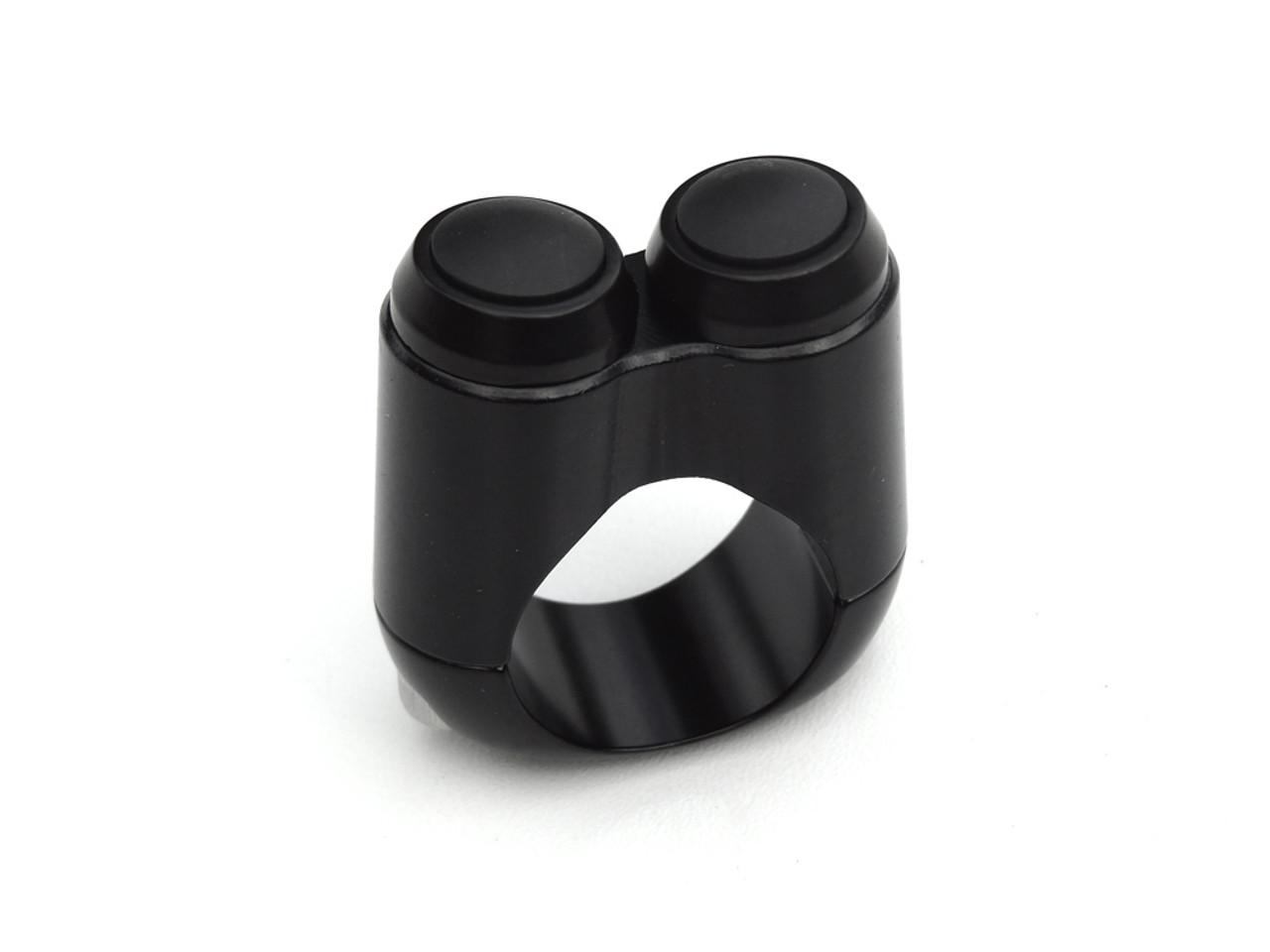 "Dual Button Microswitch 7/8"" Metric Handlebar - Black"