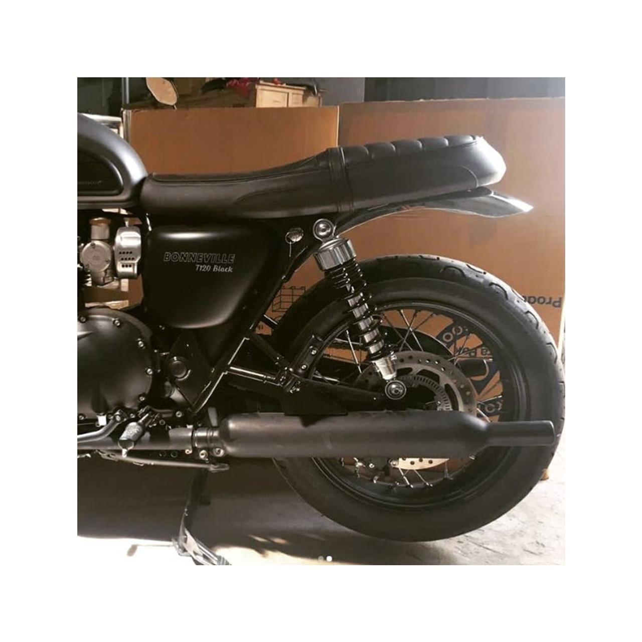 MOTONE Bobbed Rear Mudguard/Fender - Polished Aluminium - LC
