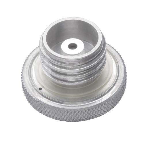 Custom Aluminum Gas Cap - Flat Top - Vented